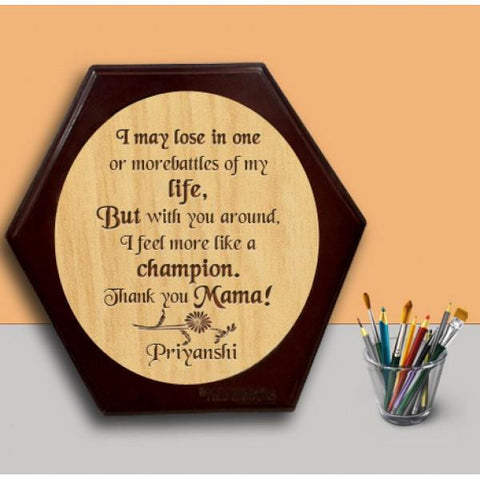Thank You Mama Wooden Hexagon Plaque - {variant_title}} - wooden personalized - vtr - www.tcgonlinestore.com - www.tcgonlinestore.com