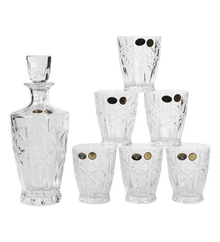 Bohemia Crystal Explosion Decanter Set - {variant_title}} - Crystal - TCG Print Shop - www.tcgonlinestore.com - www.tcgonlinestore.com