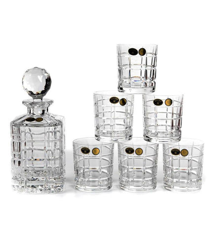 Bohemia Crystal Times Square Decanter Set - {variant_title}} - Crystal - TCG Print Shop - www.tcgonlinestore.com - www.tcgonlinestore.com