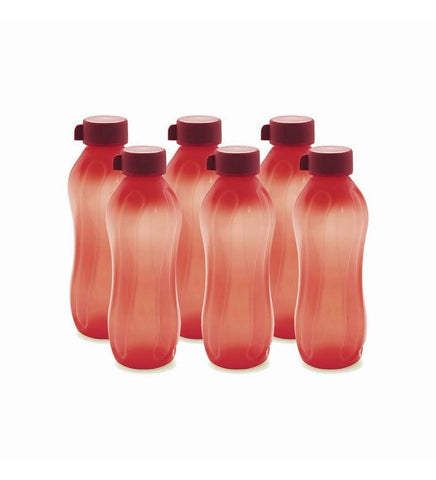 Cello Aqua Kool Pp Bottle 600 Ml - Set Of 6 Red - {variant_title}} - Bottle set - jindal - www.tcgonlinestore.com - www.tcgonlinestore.com