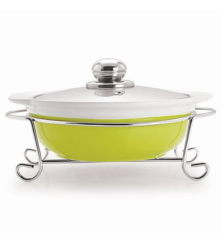 Cello - Aroma Round Casserole With Metal Stand 1500 Ml Lemon - {variant_title}} - Casserole With Metal Stand - jindal - www.tcgonlinestore.com - www.tcgonlinestore.com