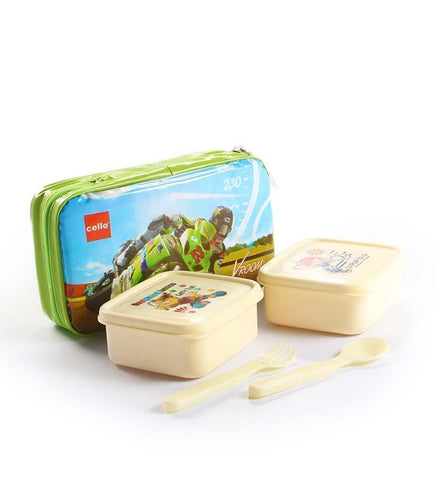 Cello Aruba Lunch Packs (2 Container) Green - {variant_title}} - lunch box - AVE - www.tcgonlinestore.com - www.tcgonlinestore.com - 1