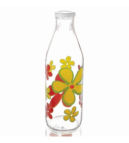 Cello - Bri Printed Glass Design Bottle 1000Ml - {variant_title}} - Bottle - AVE - www.tcgonlinestore.com - www.tcgonlinestore.com - 1