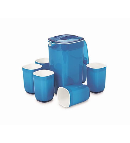 Cello Ceramica Appetizer Set Square - 7 Pcs Blue - {variant_title}} - CELLO - AVE - www.tcgonlinestore.com - www.tcgonlinestore.com - 1