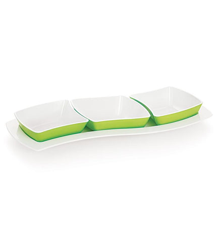 Cello Ceramica Greeting Tray Green - {variant_title}} - Tray Set - jindal - www.tcgonlinestore.com - www.tcgonlinestore.com - 1