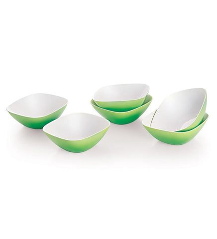 Cello Ceramica Serving Bowl Set (6 Pcs Set) Green - {variant_title}} - CELLO - AVE - www.tcgonlinestore.com - www.tcgonlinestore.com - 1
