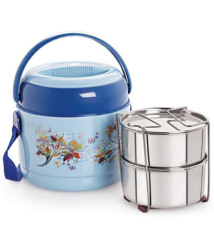 Cello Mark Insulated Lunch Carrier (2 Container) Blue - {variant_title}} - CELLO - AVE - www.tcgonlinestore.com - www.tcgonlinestore.com - 1