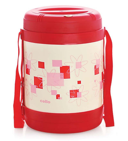 Cello Super Star Insulated Lunch Carrier (3 Container) Red - {variant_title}} - lunch box - AVE - www.tcgonlinestore.com - www.tcgonlinestore.com - 2