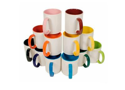 Beautiful Personalized Inner Colour handle Photo Mug (Microwave Resistant)