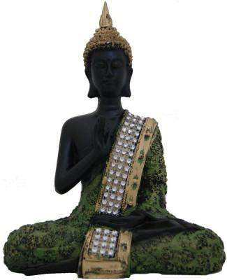 TCG Free shipping Deep Meditating Gautam Buddha in Green and Golden Antique Finish Showpiece - 18 cm - {variant_title}} - gautam budha showpiece - www.tcgonlinestore.com - www.tcgonlinestore.com - www.tcgonlinestore.com