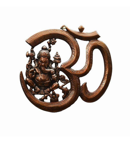 Metal wall hanging of Lord Ganesha with Om - {variant_title}} - Metal wall hanging of Lord Ganesha with Om - vcc - www.tcgonlinestore.com - www.tcgonlinestore.com