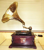 Gramophone Player With Brass Work - {variant_title}} - Antique Crafts - TCGONLINESTORE - www.tcgonlinestore.com - www.tcgonlinestore.com - 1