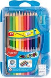 Maped ColorPeps Triangular Shaped Color Pencils(Set of 15) - {variant_title}} - maped pencils - www.tcgonlinestore.com - www.tcgonlinestore.com - www.tcgonlinestore.com