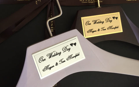 High Quality Luxury Wedding Clothes and Coat Hangers