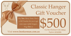 Gift Vouchers - Henkerman - Classic Hanger Collection - 4