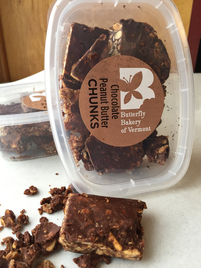 Chocolate Peanut Butter Chunks - Butterfly Bakery of Vermont