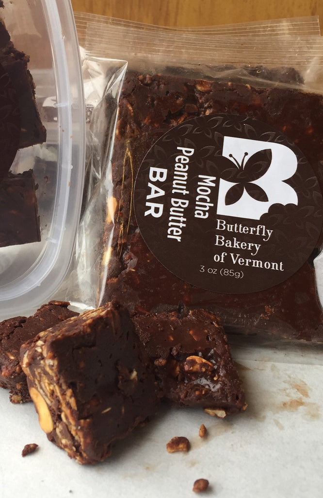 Mocha Peanut Butter Bar - Butterfly Bakery of Vermont