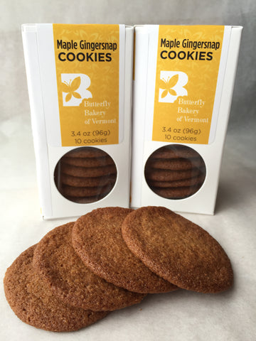 Maple Gingersnaps - Butterfly Bakery of Vermont  - 1