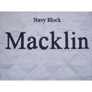 blue personalized baby play mat