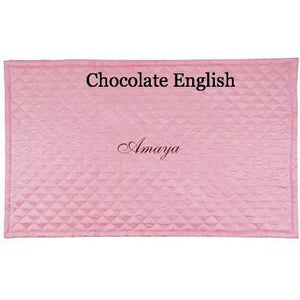 pink personalized baby play mat