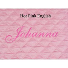 Load image into Gallery viewer, pink personalized baby play mat