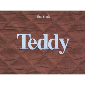 chocolate brown personalized baby play mat
