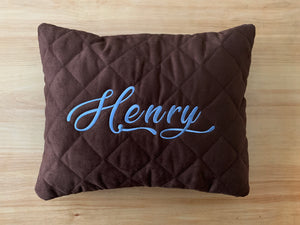 personalized pillow -blue