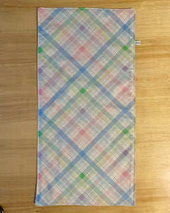 Limited Edition fresh plaid personalized change pad-pink