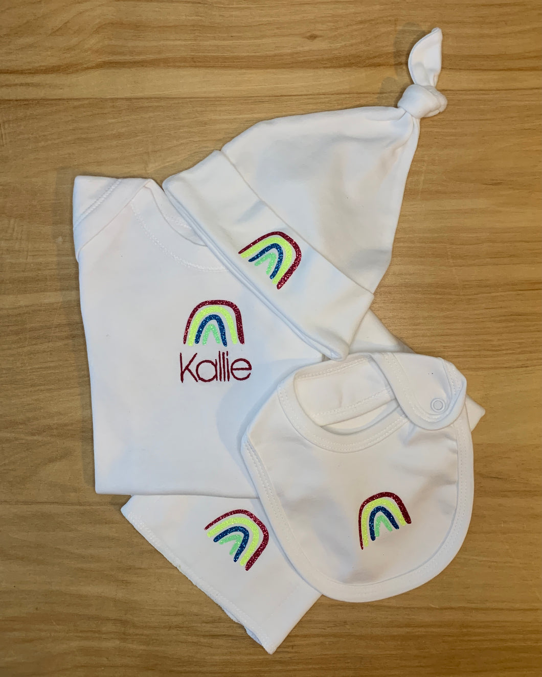 limited edition personalized rainbow gift set - 4 pieces