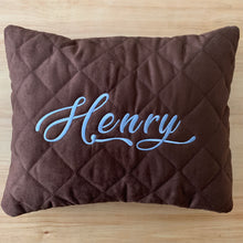 Load image into Gallery viewer, personalized pillow -chocolate