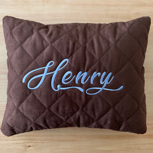 personalized pillow -chocolate