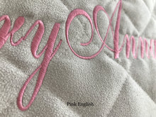 Load image into Gallery viewer, ivory personalized baby play mat