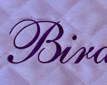 Load image into Gallery viewer, lavender personalized baby play mat