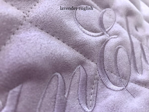 lavender personalized baby play mat