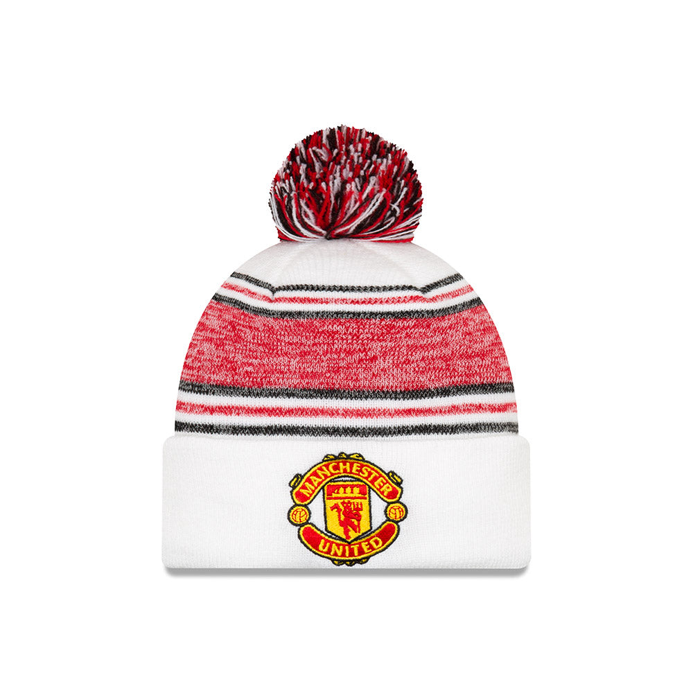 MUFC Woolie Hat - White/Red