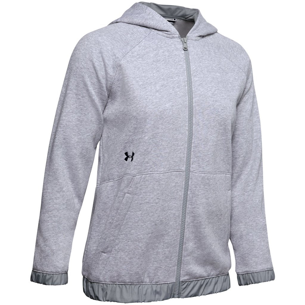 Women's Hustle Fleece Full Zip - Grey