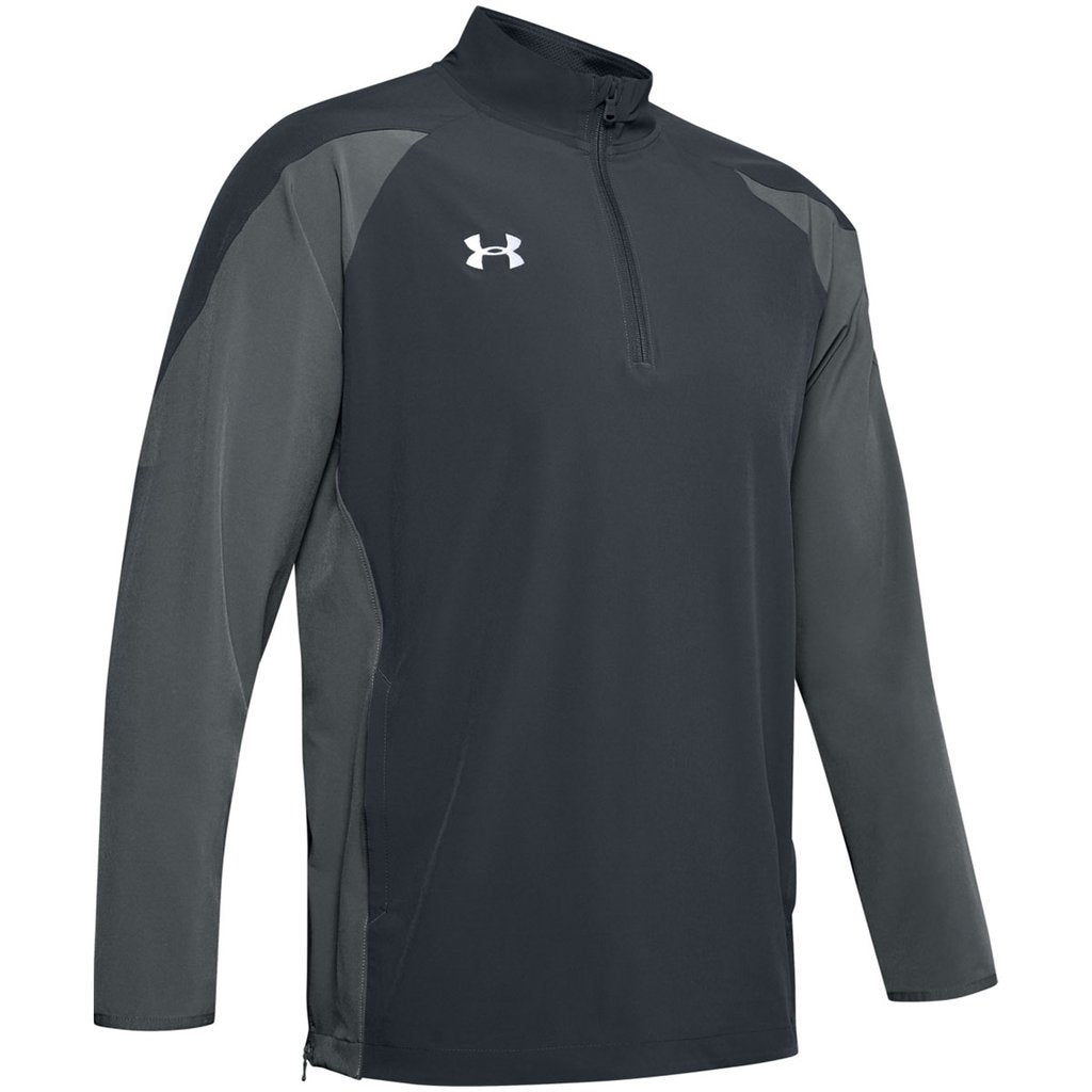 Men's UA Squad Coach's Long Sleeve ¼ Zip - Sport Grey