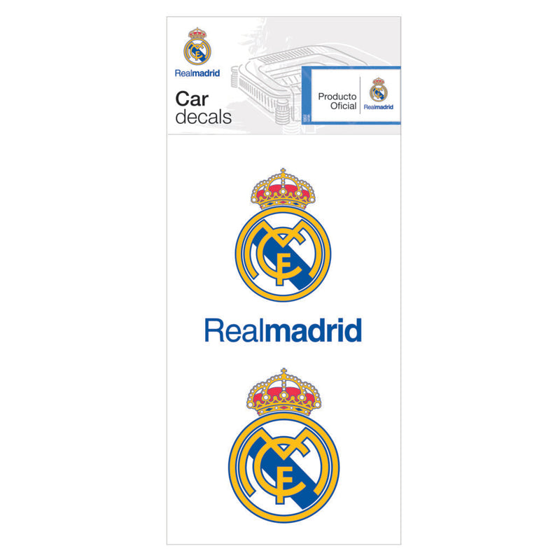 Real Madrid 2pack Car Decal - Licensed