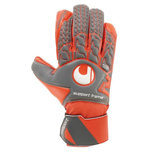 AERORED Soft SF GK Glove - Dark grey Mélange/Fluo red