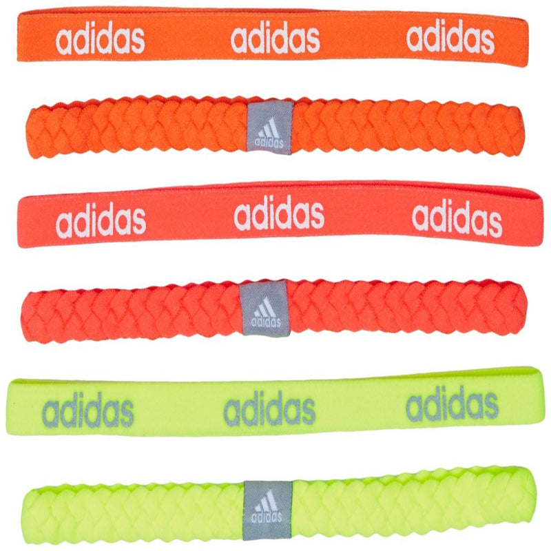 Women's Braid Hairband 6 Pack - Solar Yellow/Flash Red/Glow Orange