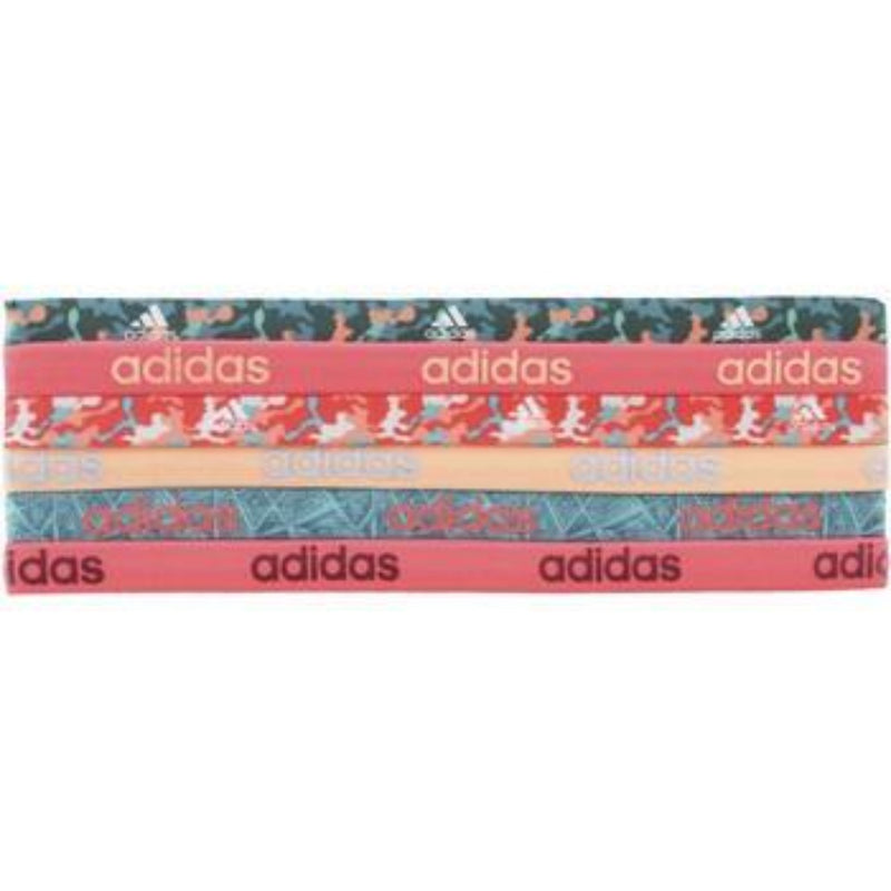 Fighter Graphic 6-Pack Hairband - Shock Red/Semi Flash Orange/EQT Green/Vivid Mint