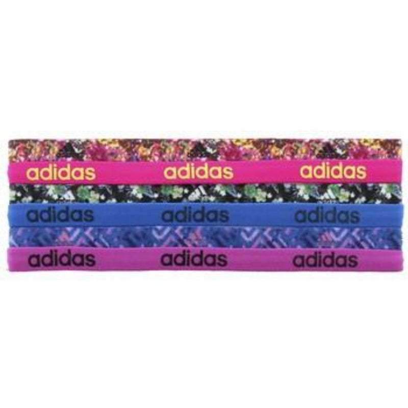 Fighter Graphic 6-Pack Hairband - Shock Pink/Solar Yellow/Shock Blue/Blue/Flash Pink