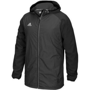 Modern Varsity Women's Full Zip Jacket - Black Non Solid
