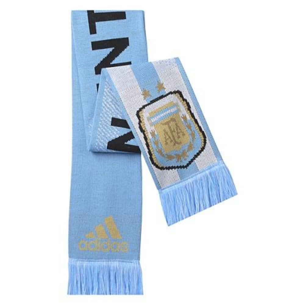 Argentina Home Scarf - Columbia Blue/White/Dark Sky