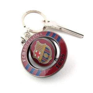 Barcelona Spinner Keychain - Navy/Maroon/Gold