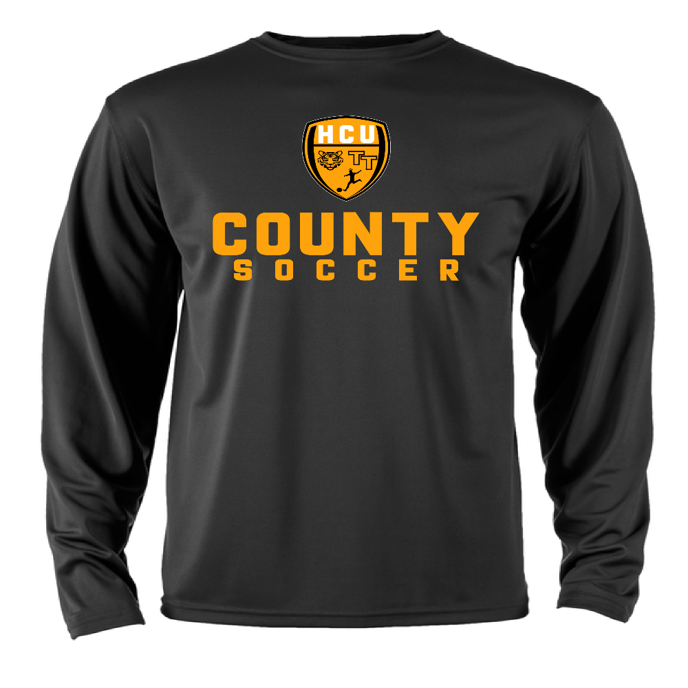 HCU COUNTY SOCCER Dri-Fit Long Sleeve Training Shirt - Black