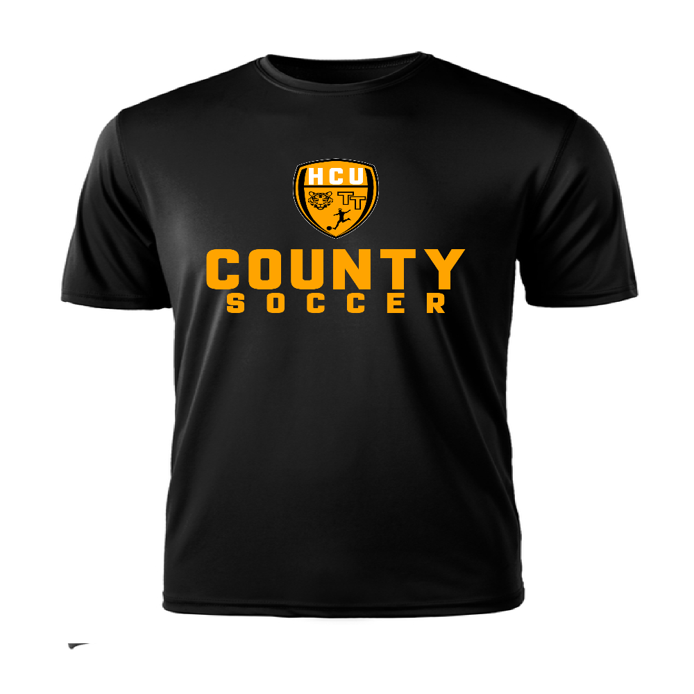 HCU COUNTY SOCCER Dri-Fit Short Sleeve Training Shirt - Black