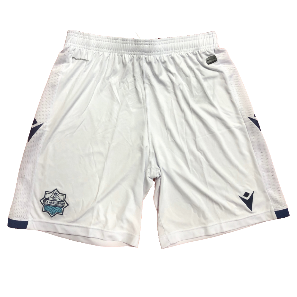 HFX Wanderers FC Away Shorts - White/Harbour Blue