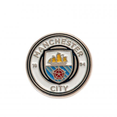 Manchester City Crested Pin - Licensed