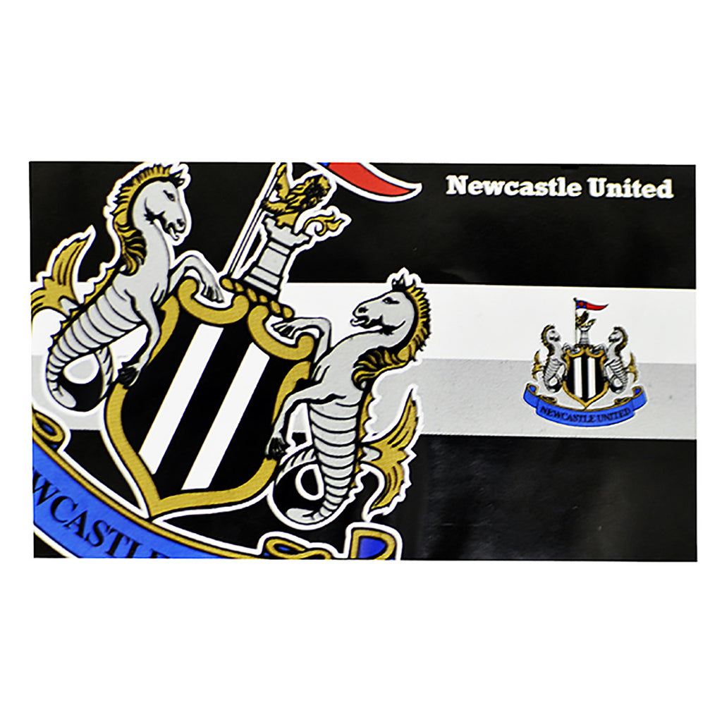 Newcastle United FC Horizon Flag 5X3 - Black/White/Blue